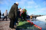 Flowers and wreaths were laid on memorable places of Zelenograd